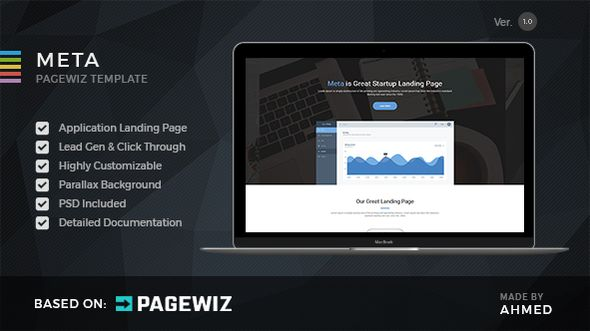 Meta Startup by Morad (landing page template for PageWiz)