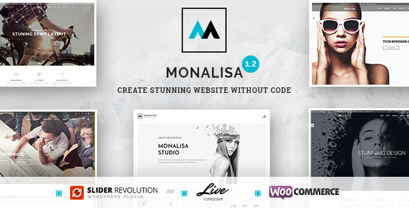 Monalisa by Alenastudio (multi-purpose WordPress theme)