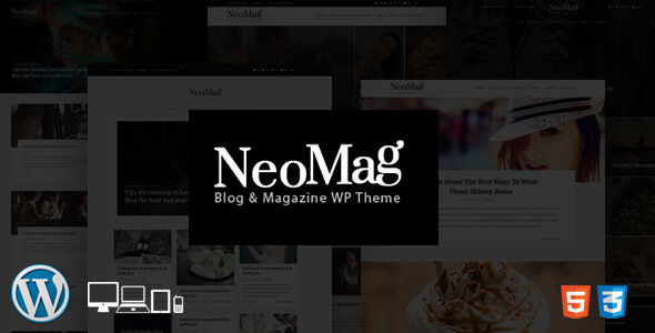 NeoMag by CrunchPress (magazine WordPress theme)