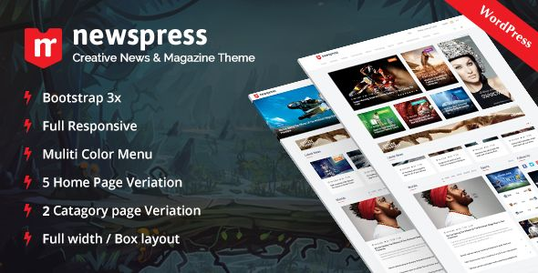 NewsPress by ThemeRegion (magazine WordPress theme)