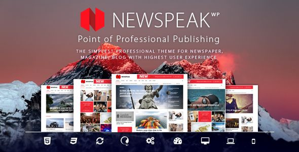 Newspeak by Avantgardia (magazine WordPress theme)