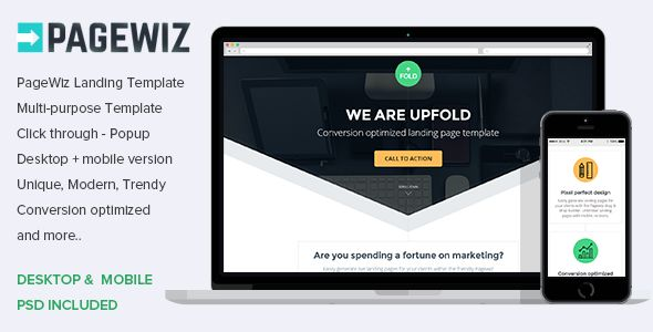 Pagewiz Multi-Purpose Landing Page Template UpFold by Surjithctly (landing page template for PageWiz)
