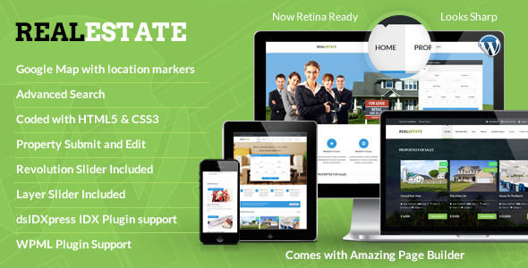 Real Estate by Designthemes (real estate and realtor WordPress theme)