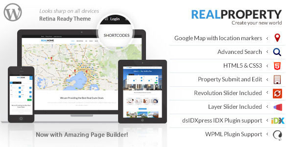Real Property by Designthemes (real estate and realtor WordPress theme)