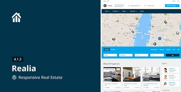 Realia by Aviators (real estate and realtor WordPress theme)