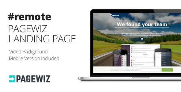 Remote by Themejive (landing page template for PageWiz)
