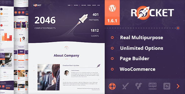 Rocket by Dan_fisher (multi-purpose WordPress theme)