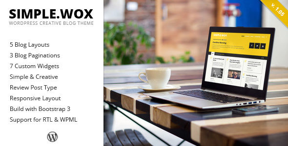 SimpleWox by ZERGE (WordPress theme with infinite scrolling)