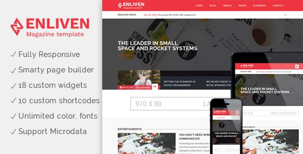 The Enliven by Colourstheme (magazine WordPress theme)
