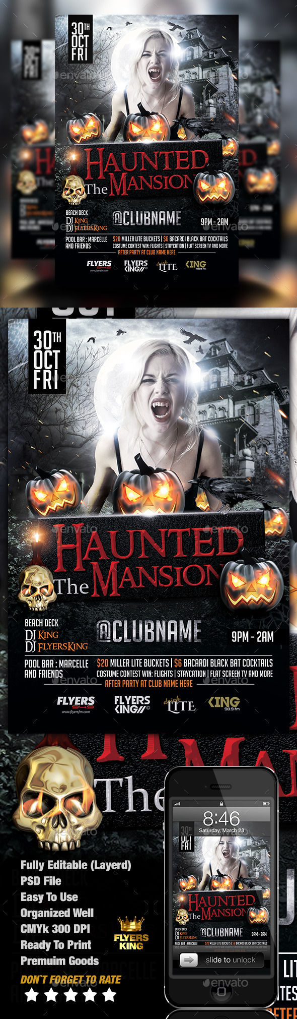The Haunted Mansion Flyer by FlyersKing (Halloween party flyer)