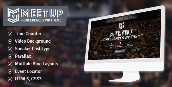 The Meetup by CrunchPress (event & conference WordPress theme)