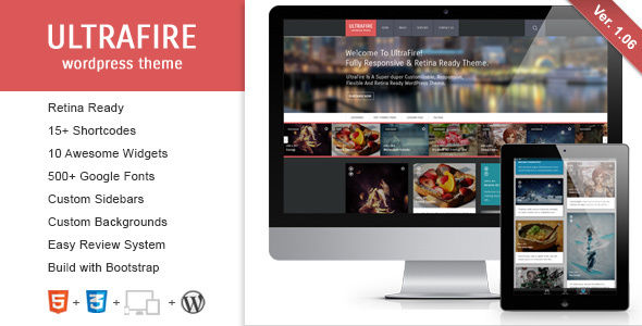 UltraFire by ZERGE (WordPress theme with infinite scrolling)