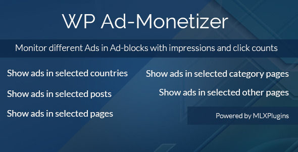 WP Ad by Mindlogixtech (WordPress advertising plugin)