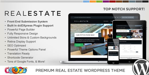 WP Pro Real Estate 6 Responsive WordPress Theme by Contempoinc (real estate and realtor WordPress theme)