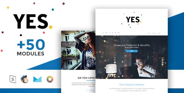 Yes by Masline (email templates for use with Mailchimp)