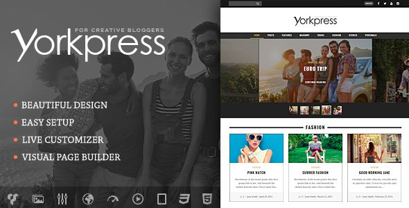 Yorkpress by WEBNUS (magazine WordPress theme)