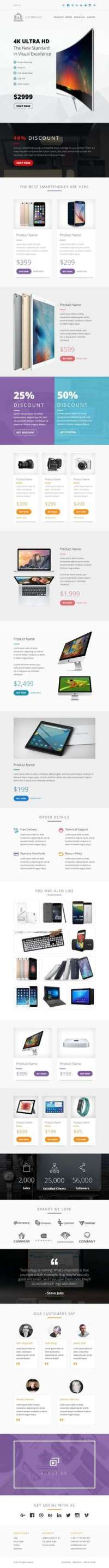 Ecommerce Responsive Email with Mailchimp Editor - StampReady Builder