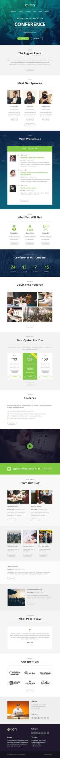 Exon - Responsive Email and Newsletter Template