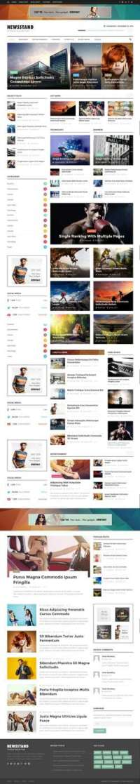Newsstand - Responsive Magazine - Editorial WordPress Theme