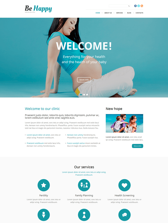 be happy medical wordpress themes