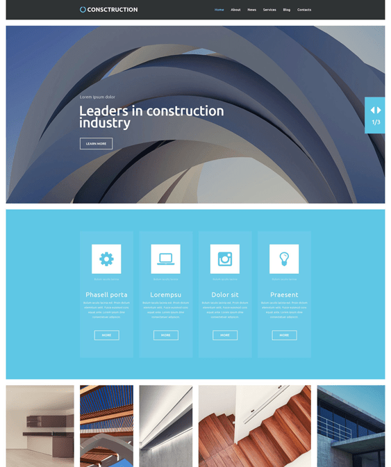 construction companies building contractors wordpress themes