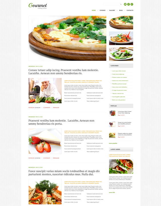 cooking recipe wordpress themes