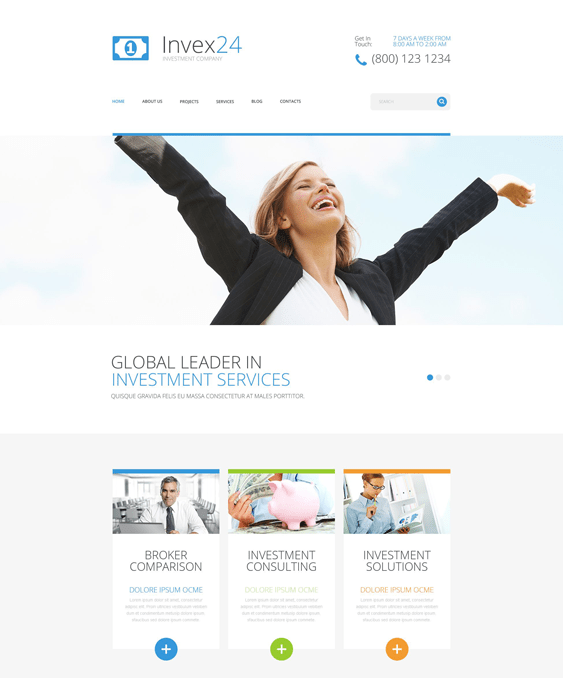 invex24 financial wordpress themes