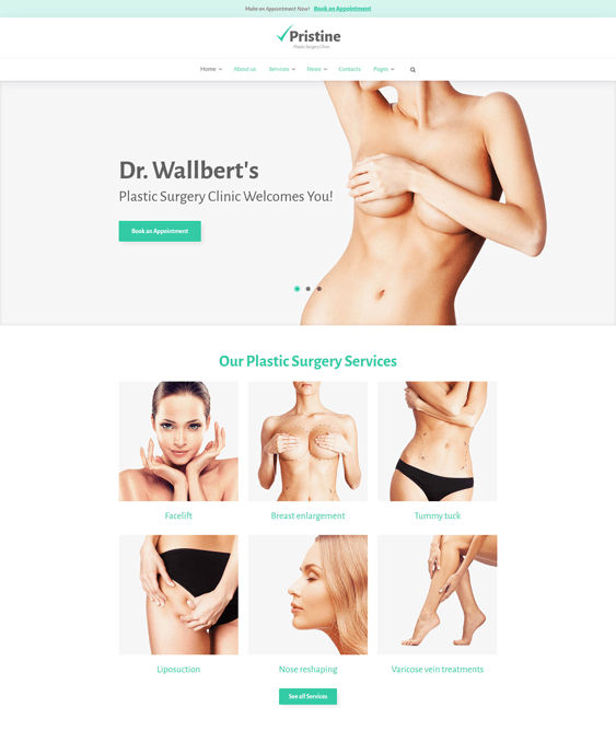 pristine medical wordpress themes