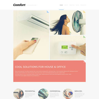 Air Conditioning Systems Joomla Template (Joomla template for construction companies) Item Picture