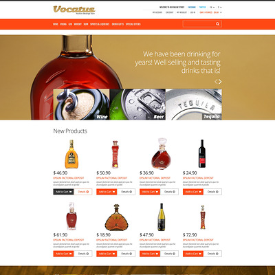 Alcohol for Your Party Magento Theme (Magento theme for selling beer, wine, and liquor) Item Picture