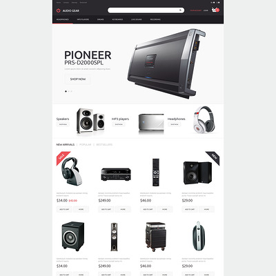 Audiogear Shop PrestaShop Theme (PrestaShop theme for electronics stores) Item Picture