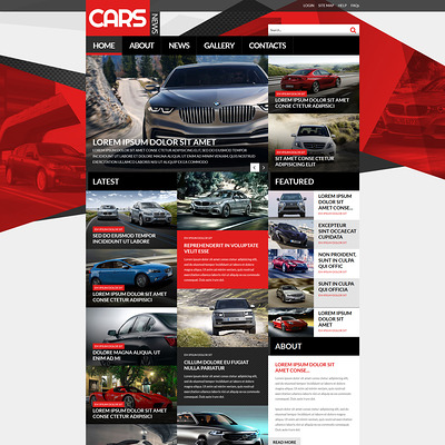 Automobile Joomla Template (Joomla template for car, vehicle, and automotive websites) Item Picture