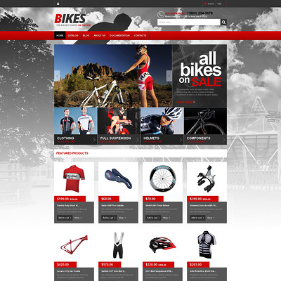 BMX Responsive Shopify Theme (Shopify theme for sports stores) Item Picture
