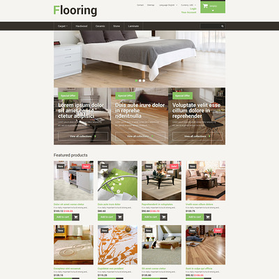 Best Flooring PrestaShop Theme (PrestaShop theme for wood and tile flooring stores) Item Picture