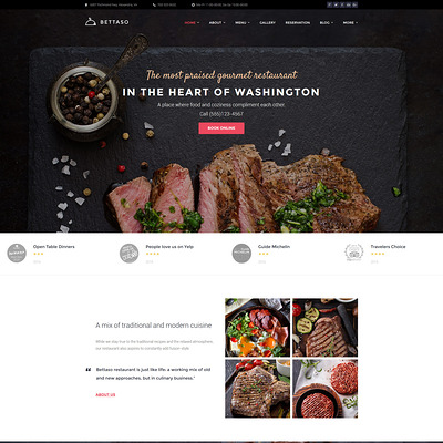Bettaso (WordPress theme for restaurants) Item Picture