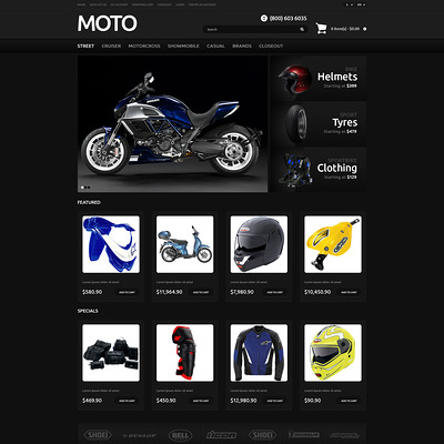 Bike Shop Responsive OpenCart Template (OpenCart theme for automotive, car, and vehicle stores) Item Picture