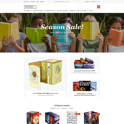 Book Store Responsive OpenCart Template (OpenCart theme for book stores) Item Picture