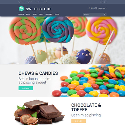 Candy Web Store Magento Theme (Magento theme for selling food and spices) Item Picture
