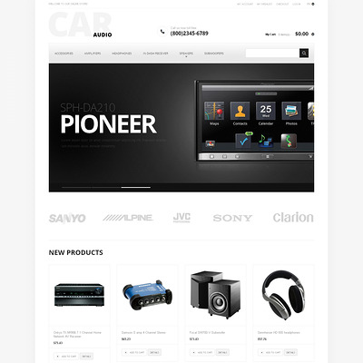 Car Audio Magento Theme (Magento theme for car, automotive, and vehicle stores) Item Picture