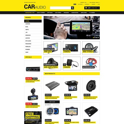 Car Audio Video Magento Theme (Magento theme for car, automotive, and vehicle stores) Item Picture
