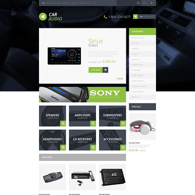 Car Audio Video OpenCart Template (OpenCart theme for automotive, car, and vehicle stores) Item Picture