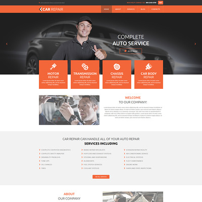 Car Repair Joomla Template (Joomla template for car, vehicle, and automotive websites) Item Picture
