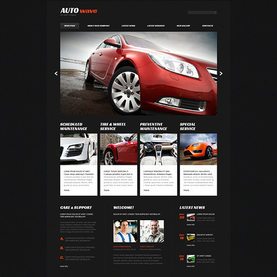 Car Repair Responsive Joomla Template (Joomla template for car, vehicle, and automotive websites) Item Picture