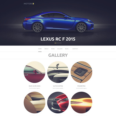 Car Responsive WordPress Theme (WordPress theme for car, vehicle, and automotive websites) Item Picture