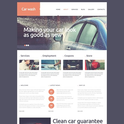 Car Wash Joomla Template (Joomla template for car, vehicle, and automotive websites) Item Picture