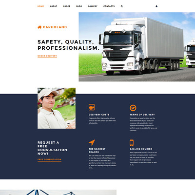Cargoland Joomla Template (Joomla template for transportation) Item Picture