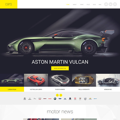 Cars Joomla Template (Joomla template for car, vehicle, and automotive websites) Item Picture
