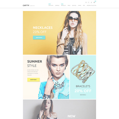 Catty Jewelry PrestaShop Theme (PrestaShop theme for jewelry stores) Item Picture