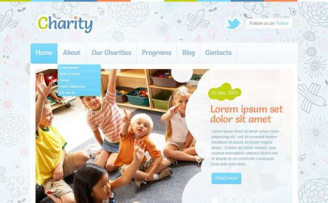 Children Charity WordPress Theme (charity WordPress theme) Screenshot