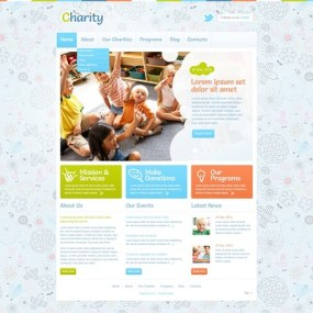 Children Charity WordPress Theme (charity WordPress theme) Item Picture
